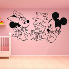 Vinyl Wall Decal Sticker Decor Mickey Mouse Minnie Cartoon Art Home Decor Nurser