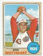 DON NOTTEBART 1968 Topps Baseball card #171 Cincinnati Reds EX