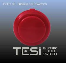 Tesi DITO XL Snap In 30MM Arcade Button Guitar Kill Switch - Red