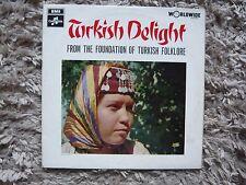 Turkish Delight Foundation Of Turkey Folklore V/A EMI UK Vinyl LP World Music