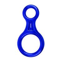 35KN Figure 8 Descender Belay Device Rappelling Gear Tree Rock Climbing Blue