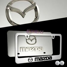 MAZDA MAZDA 3 6 Stainless Steel License Plate Frame w/ caps - 2PCS FRONT & BACK