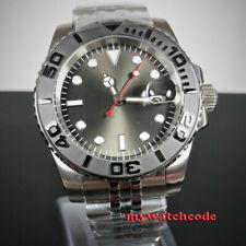 40mm Bliger gray dial Jubilee bracelet sapphire glass date automatic mens watch