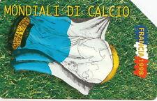 SCHEDA TELEFONICA SAN MARINO usata CALCIO BANDIERE 1998