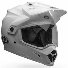 Bell MX-9 Adventure MIPS Solid Gloss White Moto Motorcycle Helmet | All Sizes