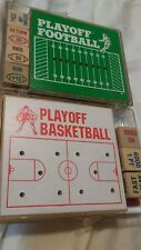 vintage wooden peg games playoff football and playoff basketball