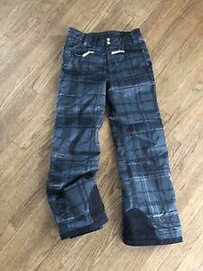 Kids/Youth Size 18 SPYDER Black,gray,silver Plaid Snow Ski pants Snowboard Pants