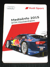 Audi A5-RS5 DTM Hockenheim Ring *2015* Pressemappe/Press Media Info Kit/Booklet