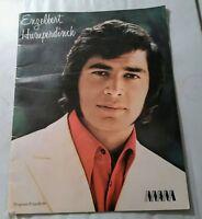 Vintage Engelbert Humperdinck Concert Program 1971 Plus Ticket Stub