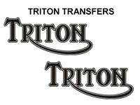 Triton Tank Transfers Decals Motorcycle Norton Triumph D500T7 Cafe Racer Black