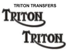 Triton Depósito Pegatinas Moto Norton Triumph D500T7 Cafe Racer Negro