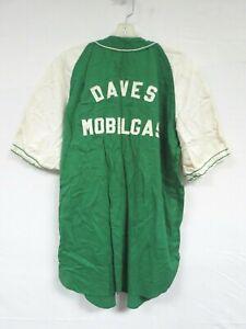 Vintage 60s Cotton Baseball Jersey IU KA Daves Mobilgas Varsity Sport Uniform