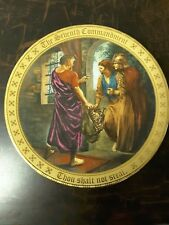 The ten Commandments plate colllection seventh commandments by Mary Mayo.