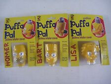 The Simpsons PUFFA PAL Asthma Inhaler Cover set HOMER BART LISA Australia 1996