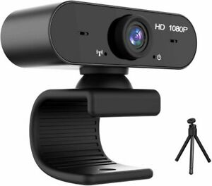 AXUF Bendable USB Full HD 1080P Webcam With Built-in Microphone + Mini Tripod
