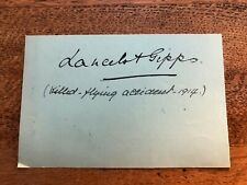More details for early 1900s signiture of lancelot gibbs ( killed in a bristol monoplane 1914)