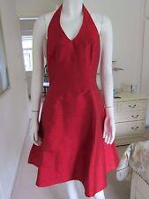 MONSOON TWILIGHT COCKTAIL DRESS & JACKET  SIZE 10 RUSTY RED HALTERNECK 100% SILK