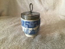 Blue willow pattern Royal Worcester egg coddler