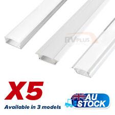 5X1M Flat Extrusion Alloy Aluminum Bars for LED Strip Lights Kitchen Bathroom RV