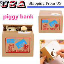 Funny Itazura kitten Cat Steal Money Coin Saving Box Piggy Bank Kids Gift Toy