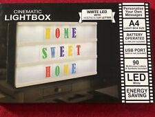 Cinemática Lightbox Letras Blanco LED MULTICOLOR CARTA