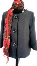 MARCELINO Luxus Designer Damen Leinen Blazer Jacke schwarz Gr 42 Dt. 40 M Jades