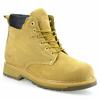 Mens New Leather Suede Lace Up Walking Hiking Work Desert Ankle Boots Shoes Size