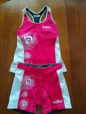 Women's Soas Triathlon Kit, Tank And Tri Shorts, Medium, Pink