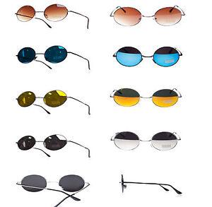 Round John Lennon Style Sunglasses Mirror Hippy Hippies 70's 60's Lens