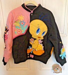 "Vintage Looney Tunes JH Design Tweety ""Spoiled Sweet"" Jacket NEW Youth L 9-10"