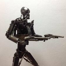 TERMINATOR ROBOT Handmade From Scrap Metal Parts Art Figure REAL METAL