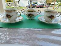 M Z Czechoslovakia Altrohlau Old Country Rose Espresso/Cappuccino Cups & Saucers