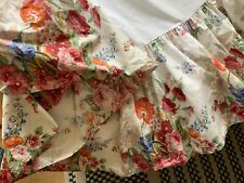 Ralph Lauren Floral Queen Bedskirt Dust Ruffle 100% cotton
