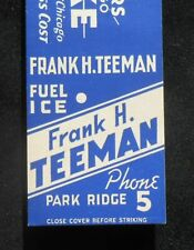 1940s Koppers Coke Frank H. Teeman Fuel Ice Phone 5 Park Ridge IL Cook Co MB