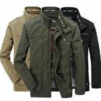 Hot Jeep Rich Men's Outdoor Autumn Cotton Blend Zipper Warm Coat Jacket Outwear