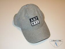 Abercrombie & Fitch A&F Mens Snapback Hat Heather Gray NYC Logo Ballcap New NWOT