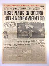 Vintage November 20 1957 Toronto Daily Star Newspaper Headline Seek 4 Storm K577