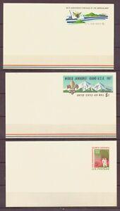 U.S., Pre-stamped post cards, MNH, 1967, 1968