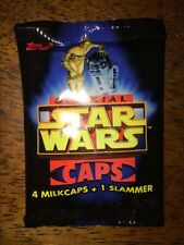Pogs Topps Official Star Wars Caps Factory Sealed 1995