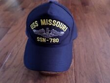 USS MISSOURI SSN 780 NAVY SUBMARINE HAT U.S MILITARY OFFICIAL BALL CAP USA MADE