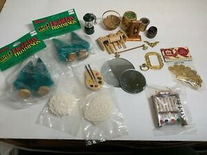 Lot Dollhouse Miniature 1:12 Scale Household Furniture Decor Items