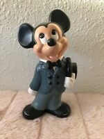 Vintage Walt Disney Productions Ceramic Mickey Mouse  Figurine RARE