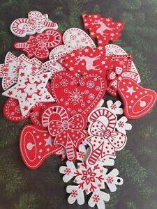 Christmas Tree Star Scandinavian Wooden Button, Embellishment, Craft