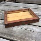 Old Vintage Rustic Handmade Small Wooden Shadowbox Box Display Frame 9 75 x 7 5