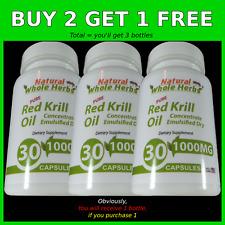 Pure Red Krill Oil - Omega-3 Fatty Acid-Astaxanthin-EPA-DHA-Natural Whole Herbs