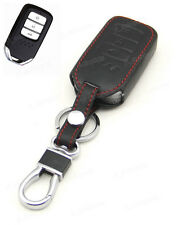 Leather Case Cover Holder For Honda Fit Jade Crider Remote Smart Key 3 Buttons 4