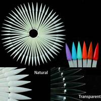 40pcs Natural/Clear False Nail Art Polish Gel Art Tips Display Fan Swatch Holder
