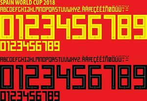 Spain World Cup 2018 CHOOSE ANY NAME & 2 NUMBERS Football Nameset shirt H/A
