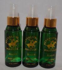(3) Beverly Hills Polo Club Rogue Body Spray- Each 3 fl oz