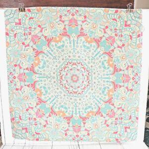 Mandala Decorative Pillow Cover 17x17 inches Soft Colors